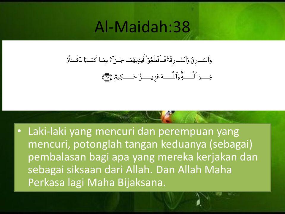 Al-Maidah:38