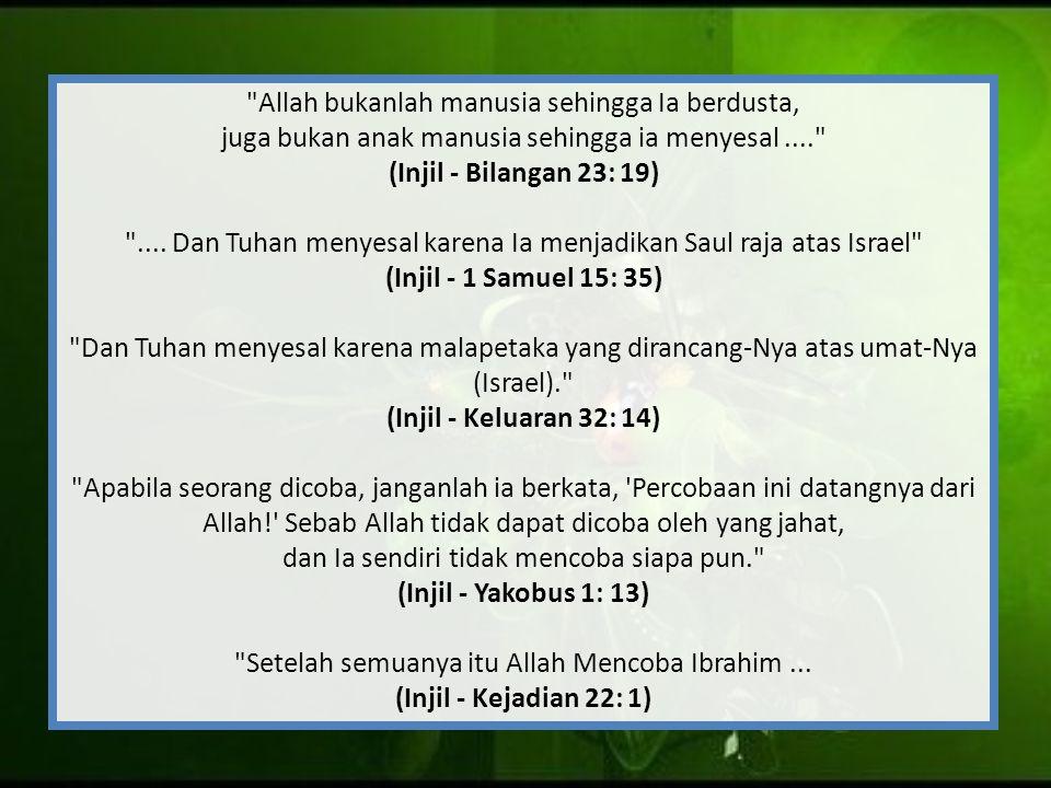 Allah bukanlah manusia sehingga Ia berdusta,
