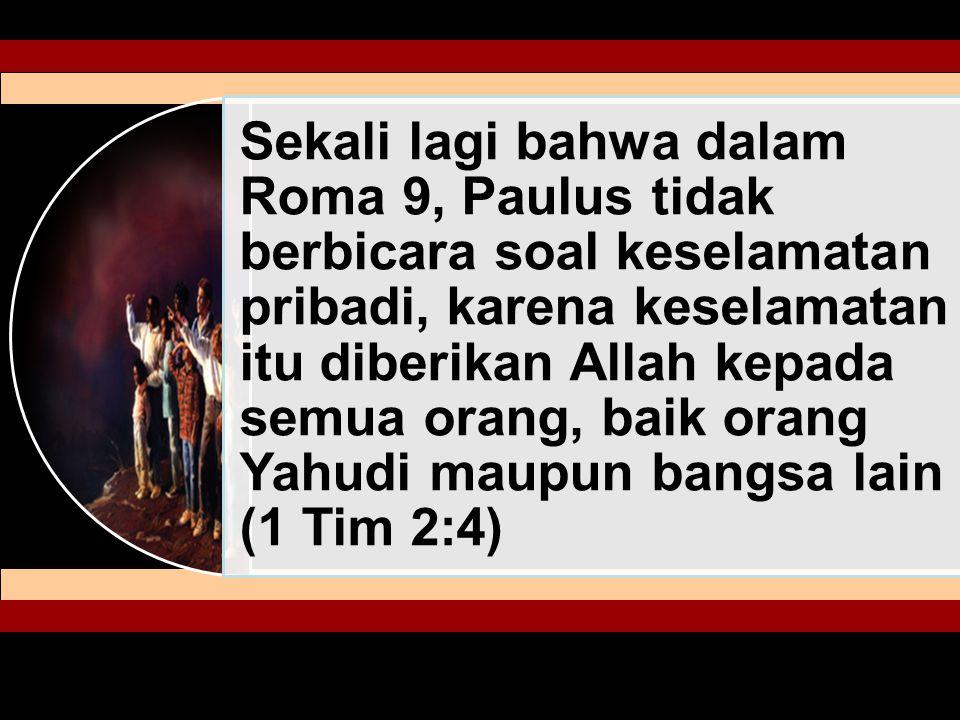 Kematian Yesus adalah untuk seluruh umat manusia.