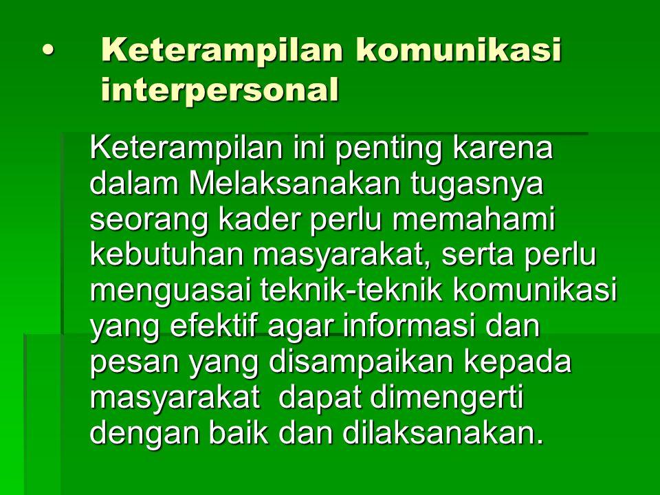 Keterampilan komunikasi interpersonal