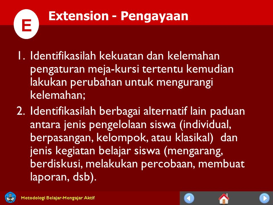 E E Extension - Pengayaan