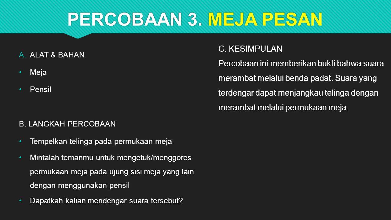 PERCOBAAN 3. MEJA PESAN C. KESIMPULAN