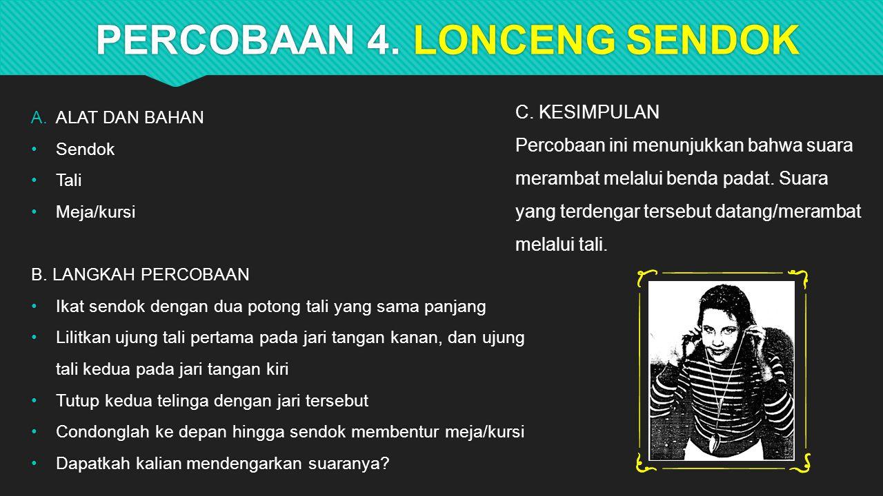 PERCOBAAN 4. LONCENG SENDOK