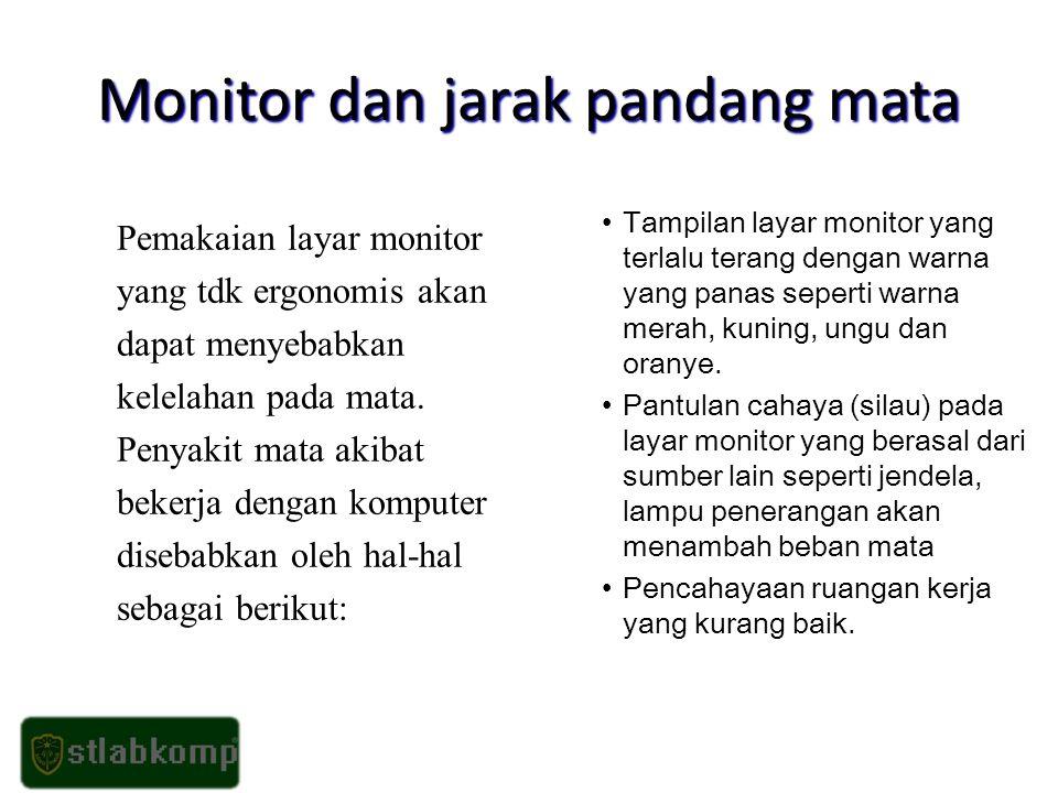 Monitor dan jarak pandang mata