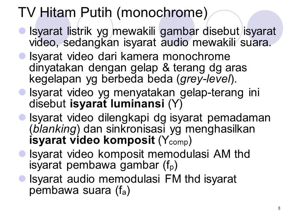 TV Hitam Putih (monochrome)