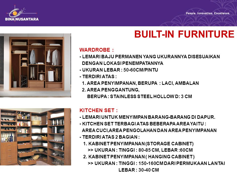 BUILT-IN FURNITURE WARDROBE : KITCHEN SET :