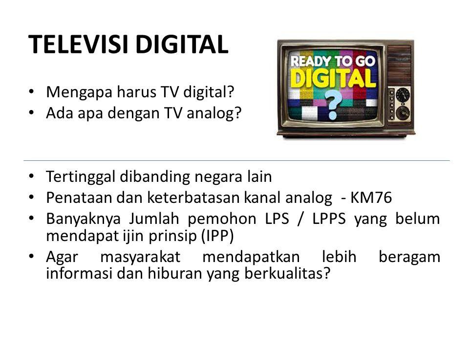 TELEVISI DIGITAL Mengapa harus TV digital Ada apa dengan TV analog