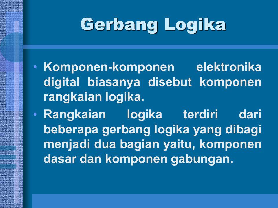 Gerbang Logika Komponen-komponen elektronika digital biasanya disebut komponen rangkaian logika.