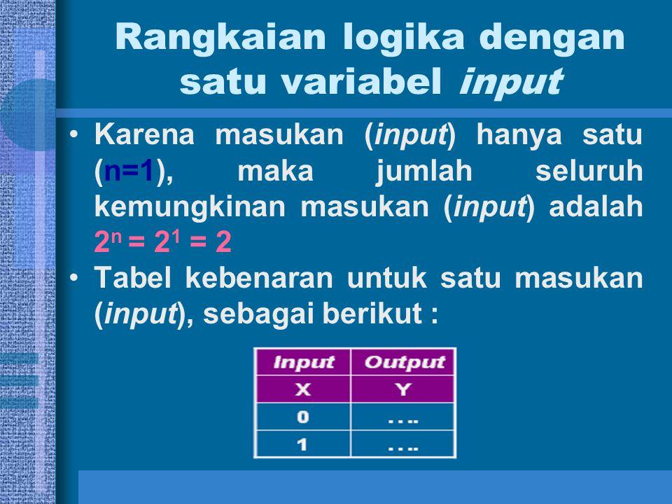 Rangkaian logika dengan satu variabel input