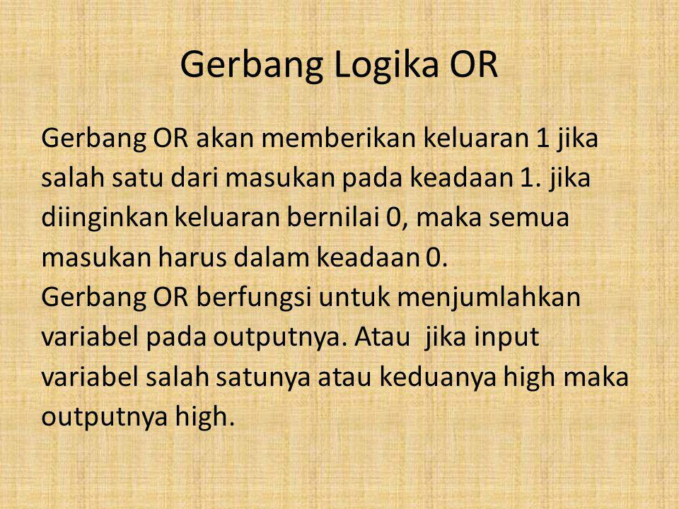 Gerbang Logika OR