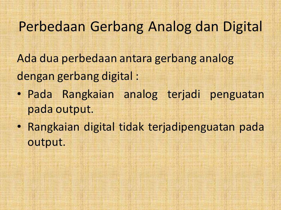 Perbedaan Gerbang Analog dan Digital
