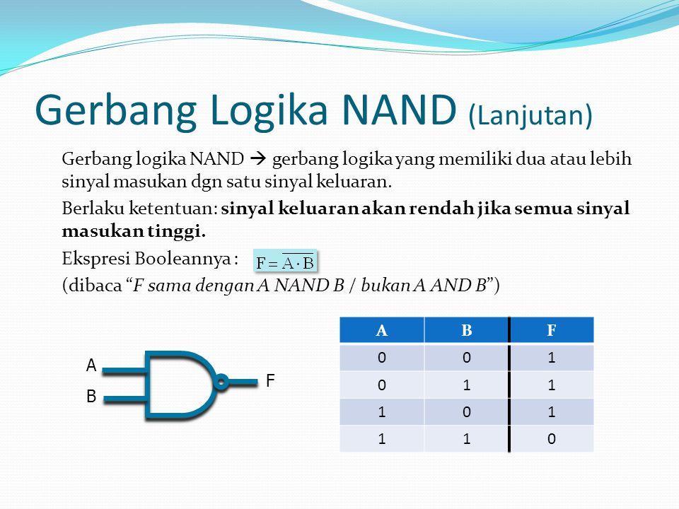 Gerbang Logika NAND (Lanjutan)