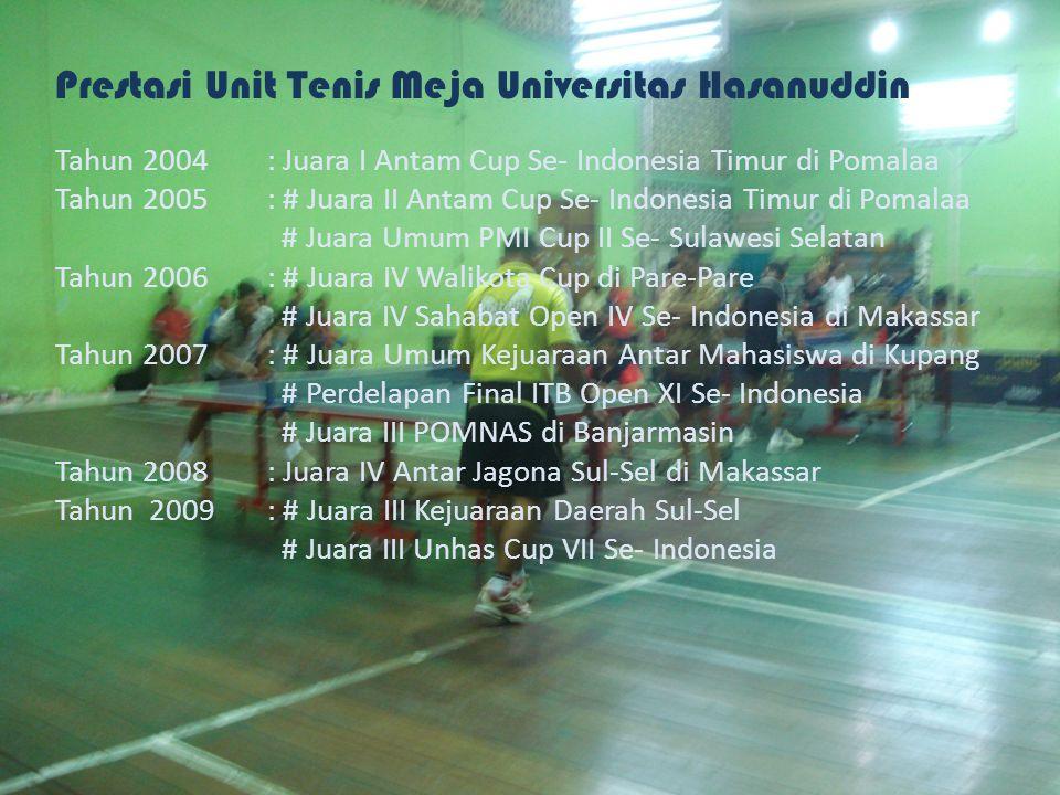 Prestasi Unit Tenis Meja Universitas Hasanuddin