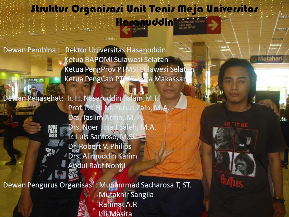 Struktur Organisasi Unit Tenis Meja Universitas Hasanuddin