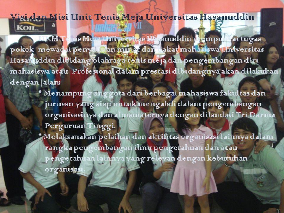 Visi dan Misi Unit Tenis Meja Universitas Hasanuddin