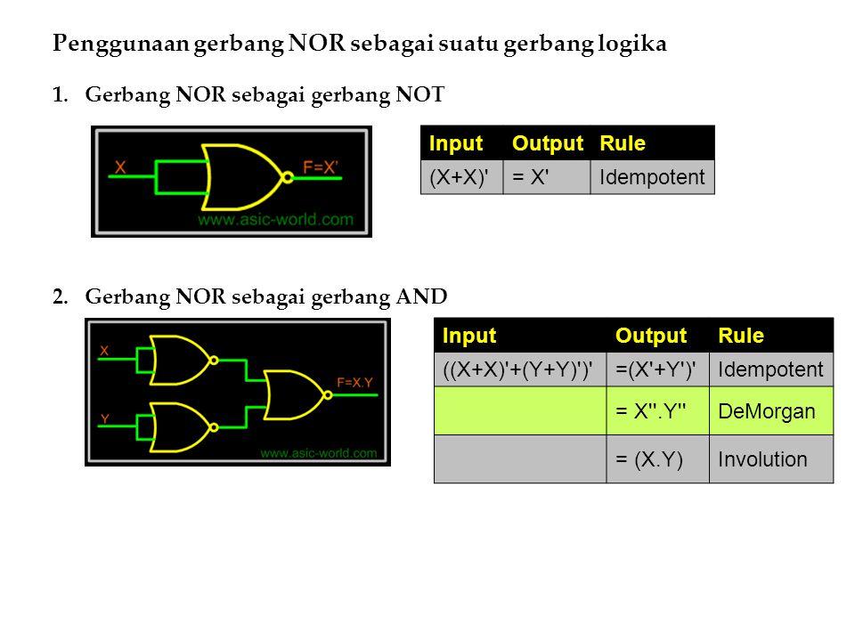 Penggunaan gerbang NOR sebagai suatu gerbang logika