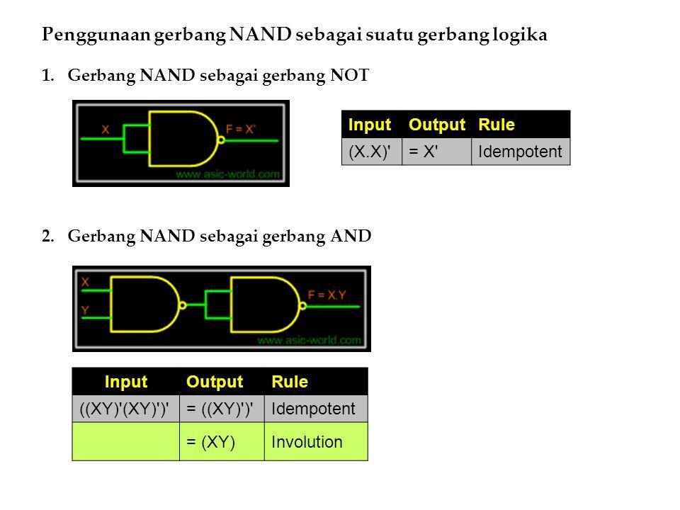 Penggunaan gerbang NAND sebagai suatu gerbang logika