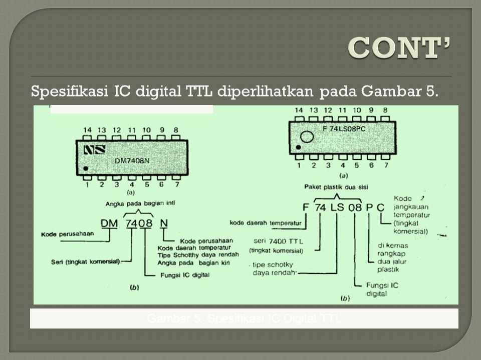 Gambar 5. Spesifikasi IC Digital TTL