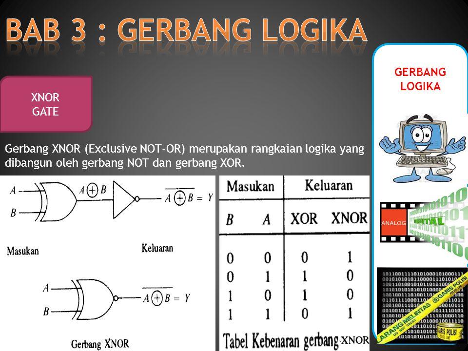 BAB 3 : GERBANG LOGIKA GERBANG LOGIKA XNOR GATE
