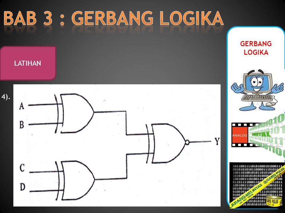 BAB 3 : GERBANG LOGIKA GERBANG LOGIKA LATIHAN 4).