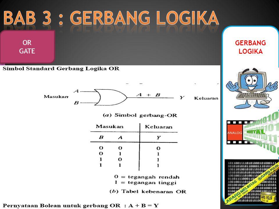 BAB 3 : GERBANG LOGIKA GERBANG LOGIKA OR GATE