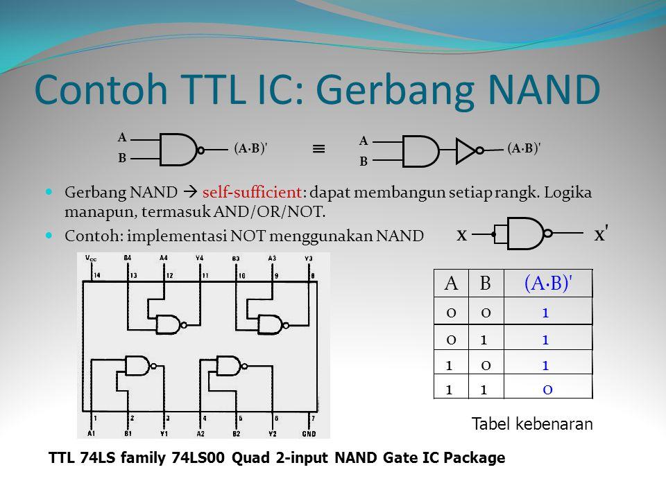 Contoh TTL IC: Gerbang NAND