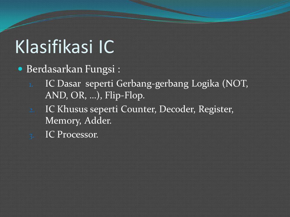 Klasifikasi IC Berdasarkan Fungsi :
