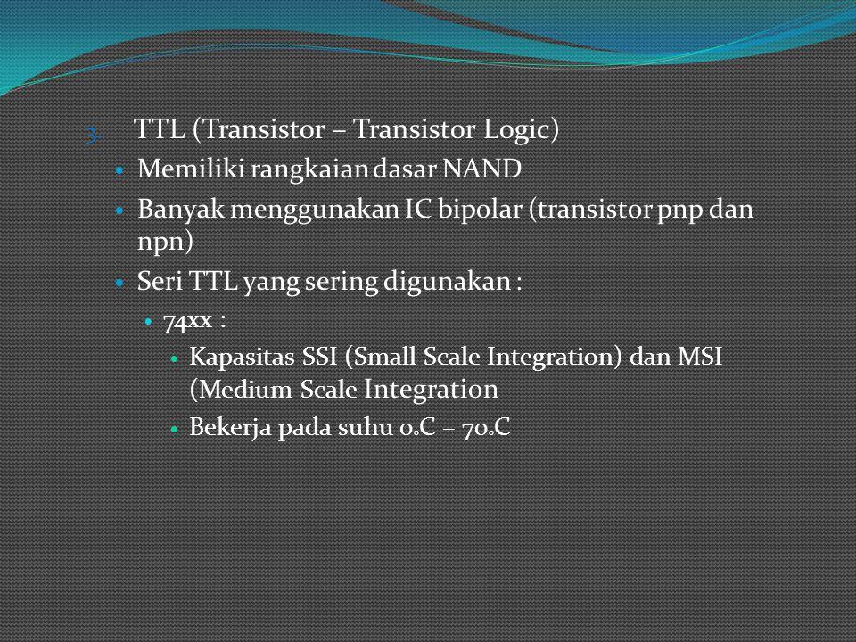TTL (Transistor – Transistor Logic)