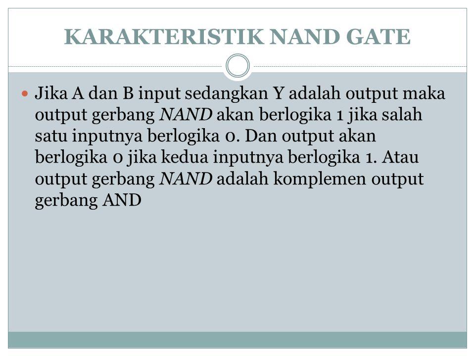 KARAKTERISTIK NAND GATE