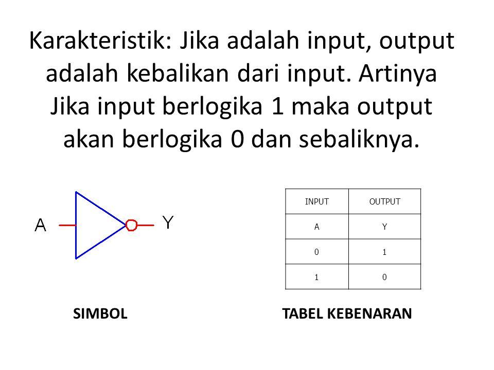 Karakteristik: Jika adalah input, output adalah kebalikan dari input