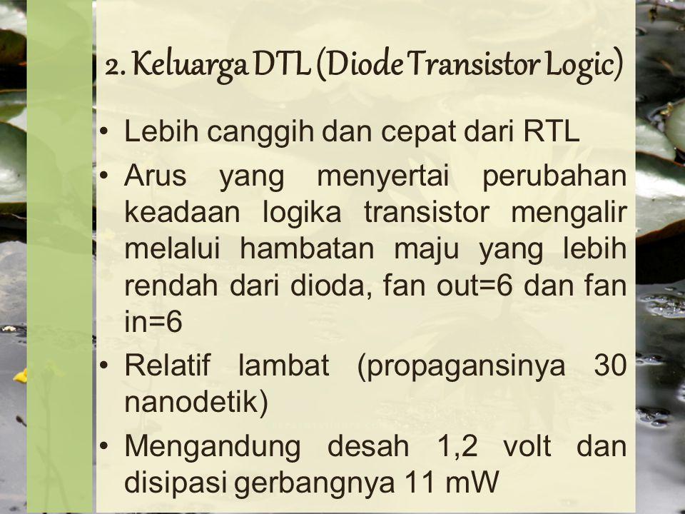 2. Keluarga DTL (Diode Transistor Logic)