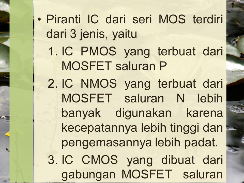 Piranti IC dari seri MOS terdiri dari 3 jenis, yaitu