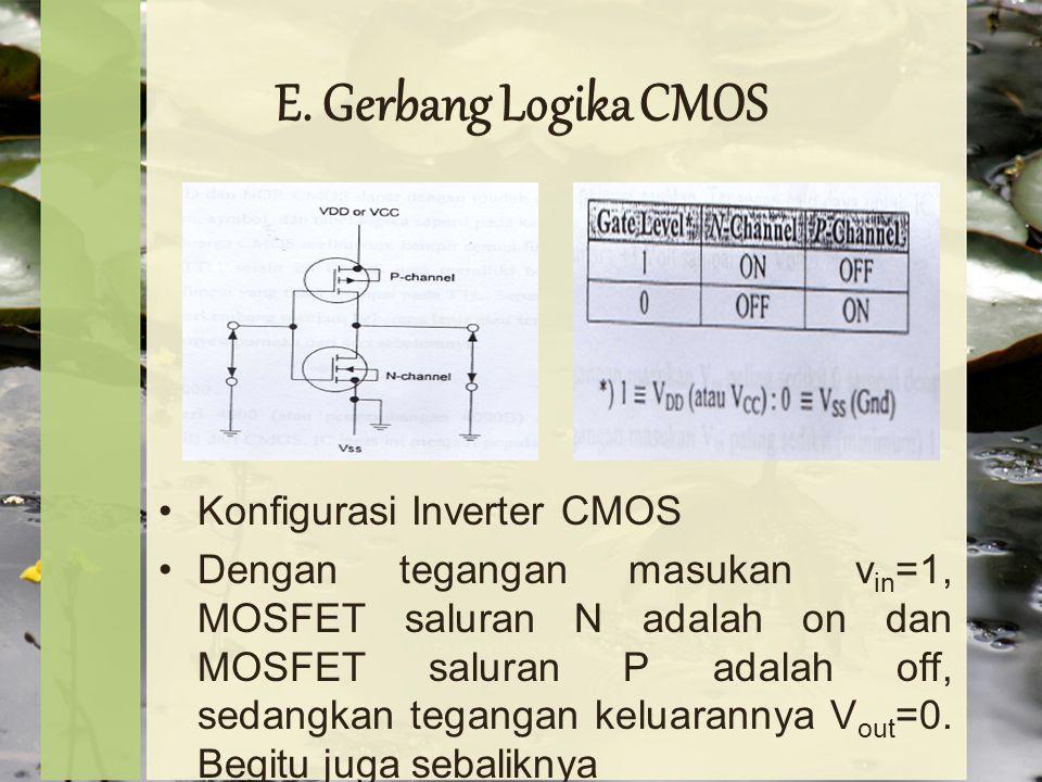E. Gerbang Logika CMOS Konfigurasi Inverter CMOS