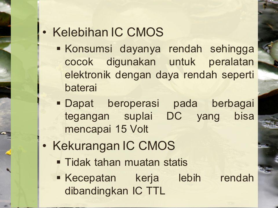 Kelebihan IC CMOS Kekurangan IC CMOS