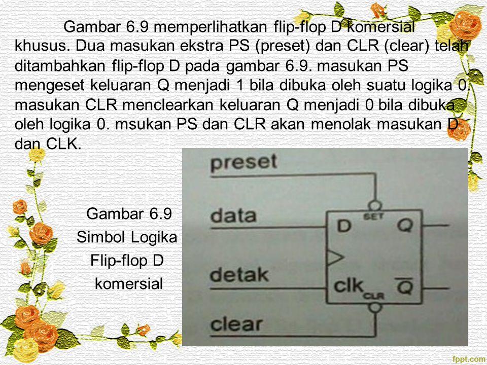 Gambar 6. 9 memperlihatkan flip-flop D komersial khusus