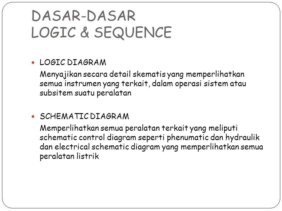 DASAR-DASAR LOGIC & SEQUENCE