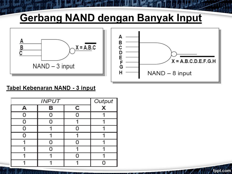Gerbang NAND dengan Banyak Input