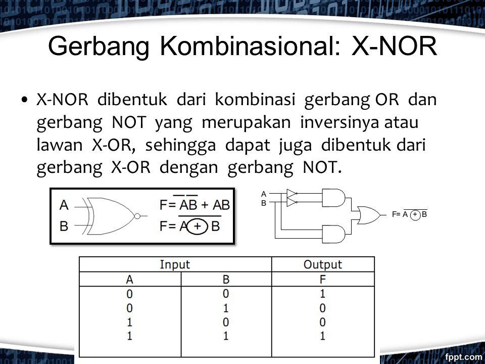 Gerbang Kombinasional: X-NOR
