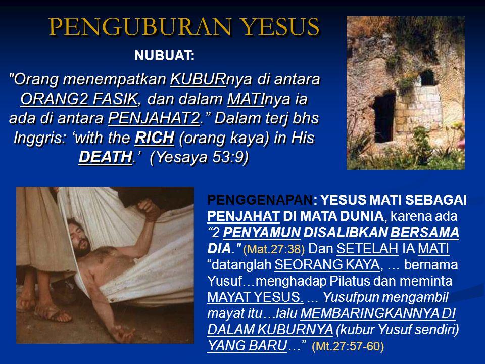 PENGUBURAN YESUS