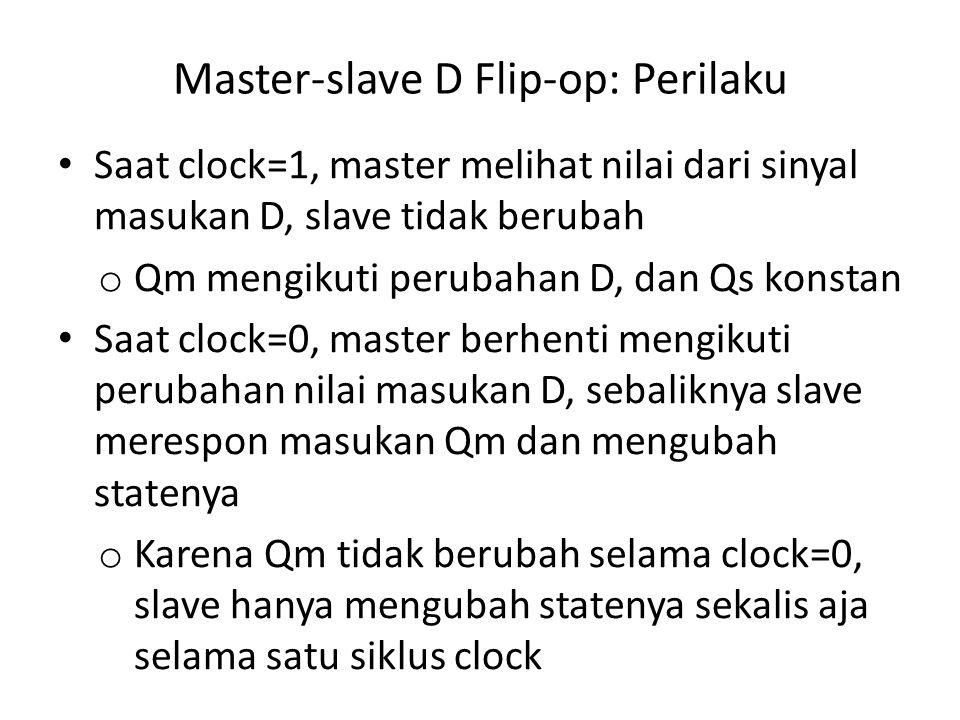 Master-slave D Flip-op: Perilaku
