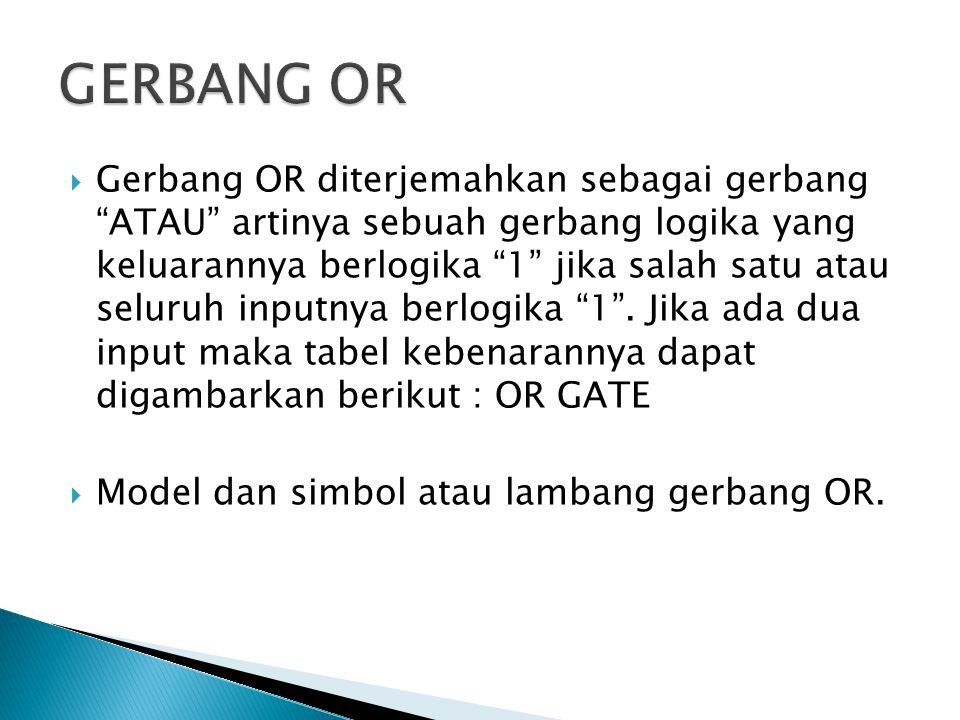 GERBANG OR
