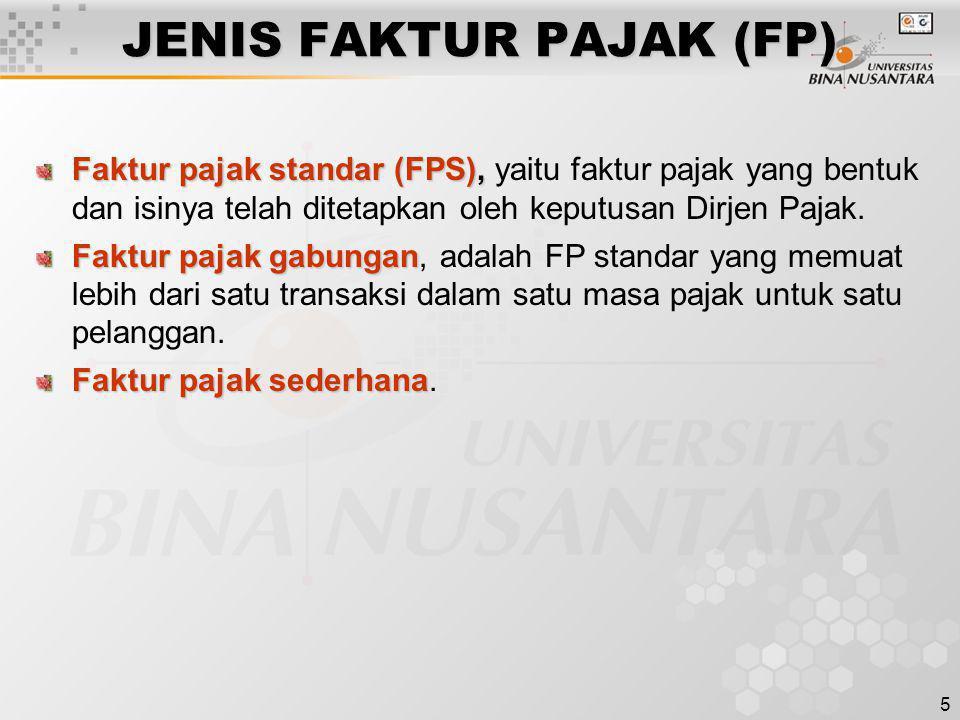 JENIS FAKTUR PAJAK (FP)