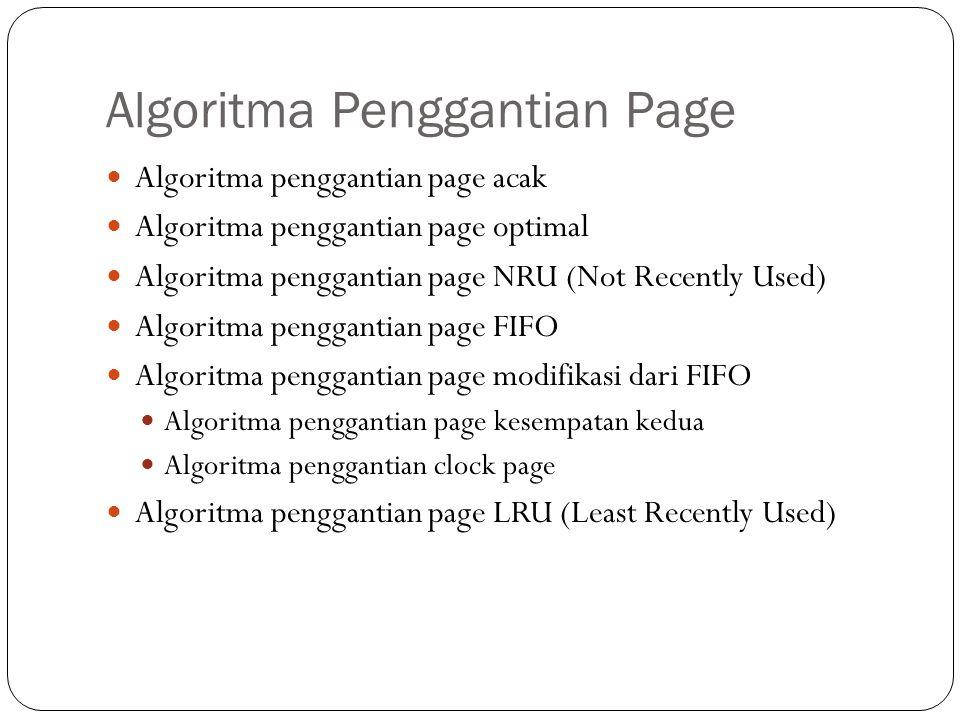 Algoritma Penggantian Page