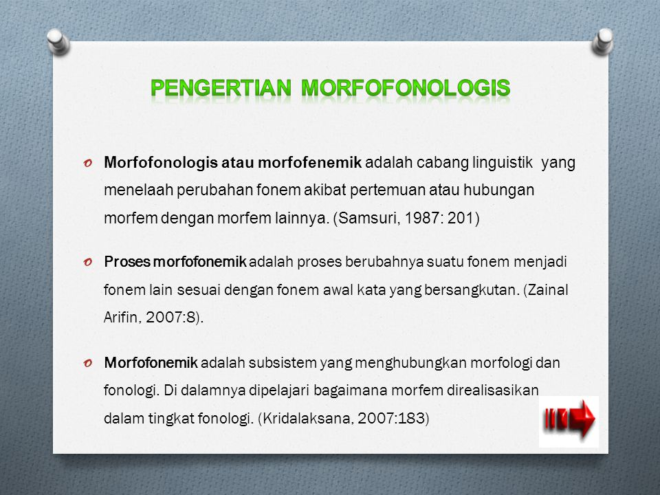 Pengertian Morfofonologis