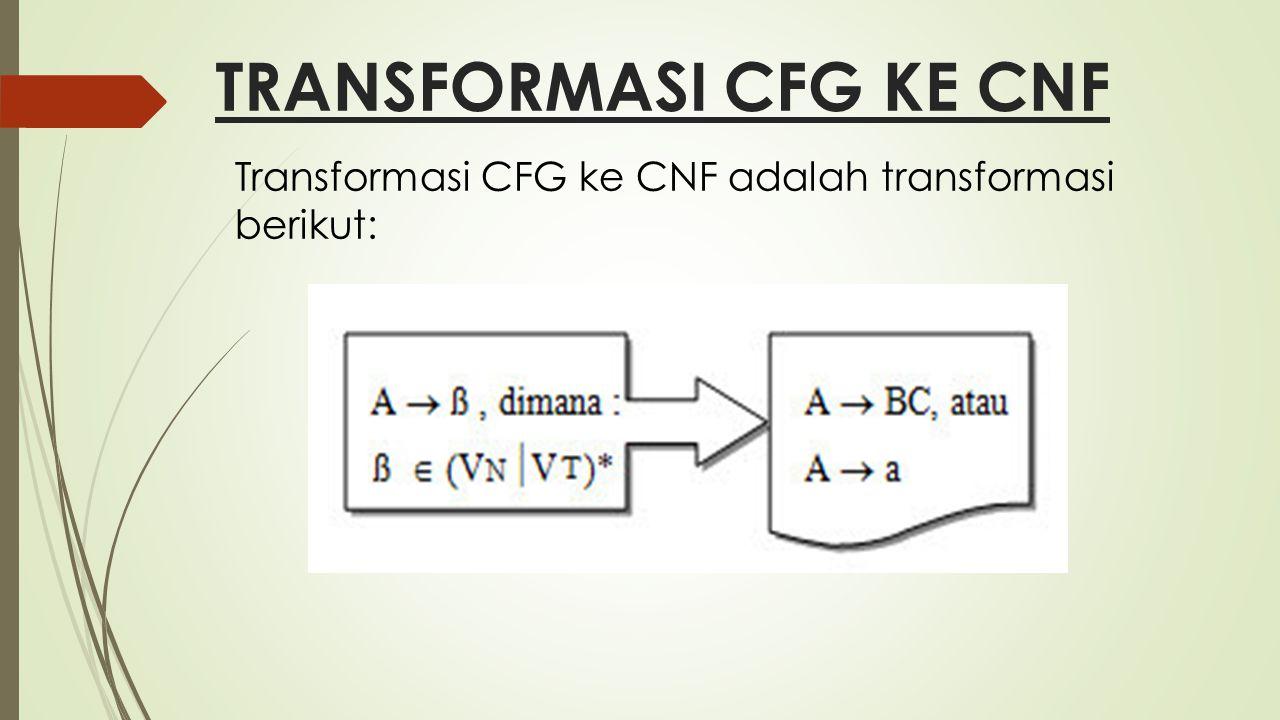 TRANSFORMASI CFG KE CNF