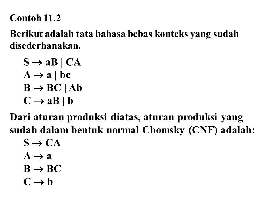 S  aB | CA A  a | bc B  BC | Ab C  aB | b