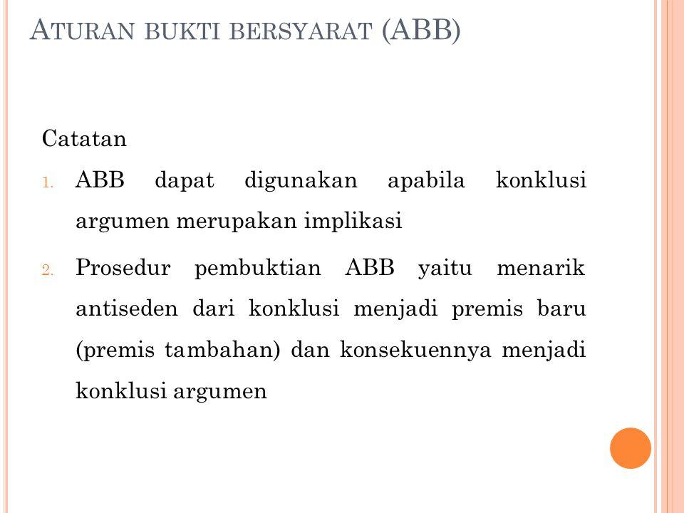 Aturan bukti bersyarat (ABB)