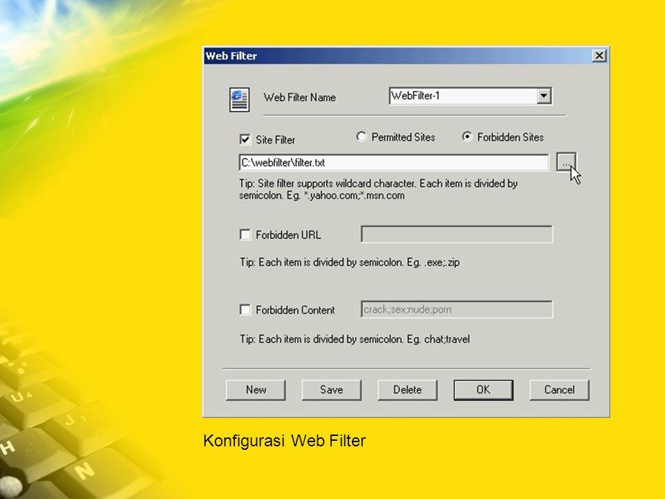 Konfigurasi Web Filter