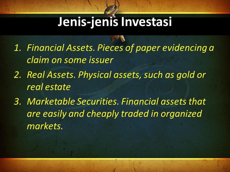 Jenis-jenis Investasi