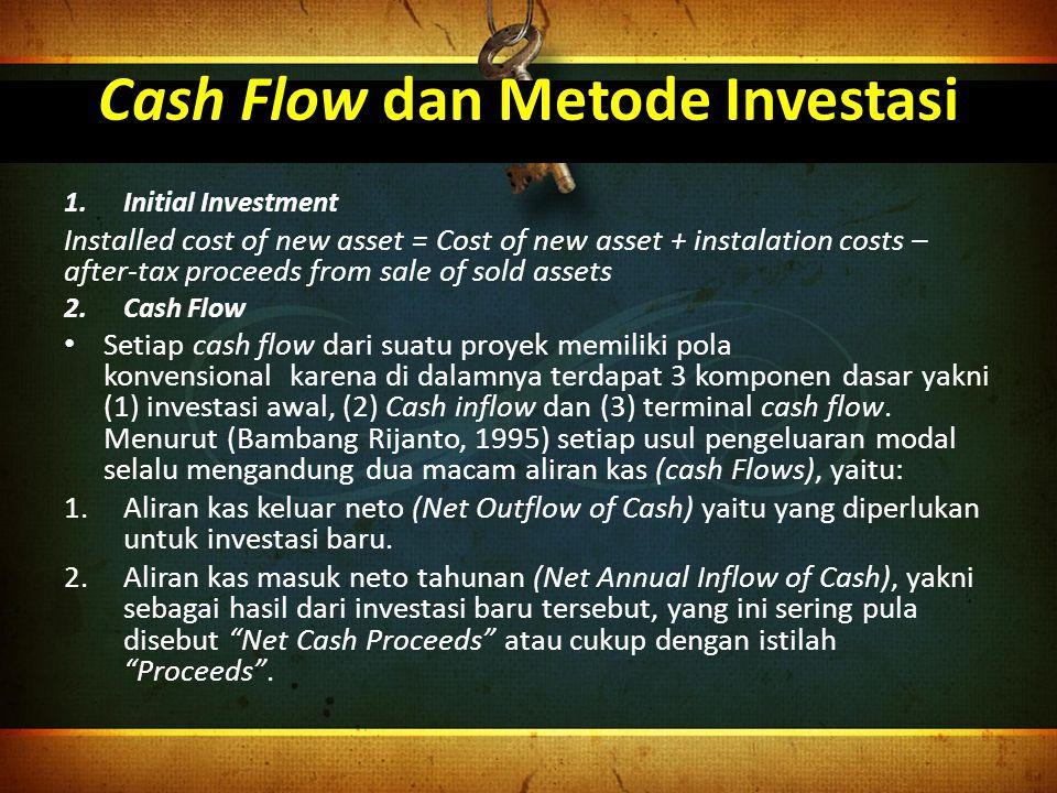 Cash Flow dan Metode Investasi